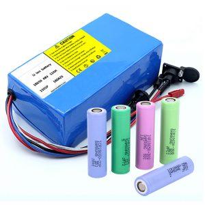 Літієва батарея 18650 48V 12AH 48V 500 Вт Електричний велосипедний акумулятор з BMS