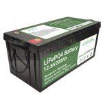 Гарячі продані батареї lifepo4 потужністю 2,56 кВт / год 12v 200Ah 6000 циклів rv акумулятор
