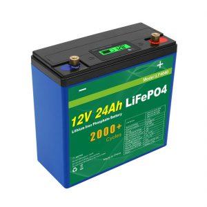 Сонячний глибокий цикл 24v 48v 24ah Lifepo4 акумуляторний блок UPS 12v 24ah батареї