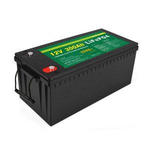 ВСЕ В ОДНОМІ Літій-іонна батарея Глибокий цикл 12v 300Ah LiFePo4 акумуляторна батарея