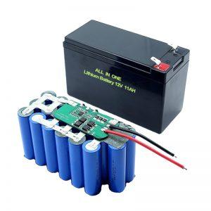 ВСЕ В ОДНОМ 18650 3S5P 12-вольтова літієва батарея 11Ah акумуляторна літієва батарея