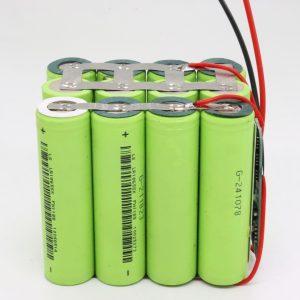 Оптова замовна 18650 літієва 4s3p водонепроникна друкована плата батареї глибокого циклу 12v 10AH для електроінструменту