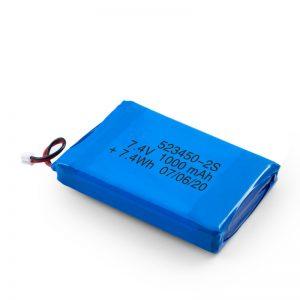 Акумуляторна батарея LiPO 523450 3.7V 1000mAH / 7.4V 1000mAH / 3.7V 2000mAH