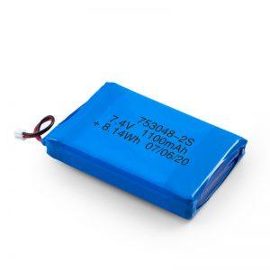 Акумуляторна батарея LiPO 753048 3.7V 1100mAh / 7.4V 1100mAH / 3.7V 2200mAH