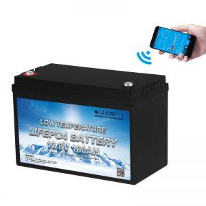 Низька температура батареї LiFePO4 12V 100AH