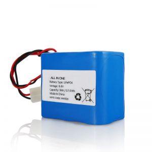 Літієвий акумулятор LiFePO4 потужністю 6,4 В на 12 Ah, 26650, 32650, акумулятор із роз'ємом для сонячного світла